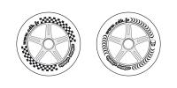 Illustration roues de trottinette